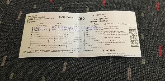 Cómo moverse por Bélgica en tren