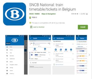 Como moverse en tren por Bélgica
