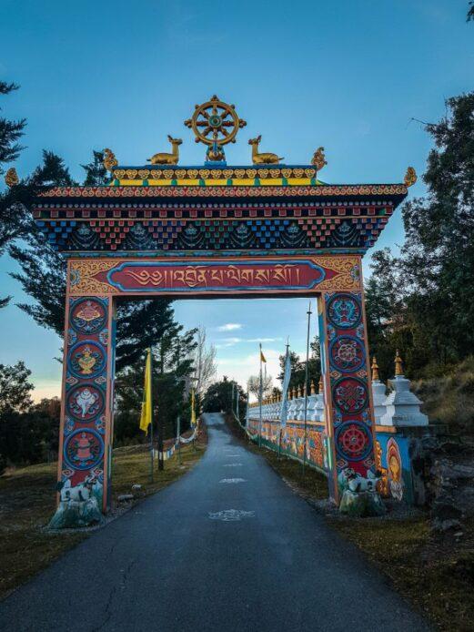 Entrada al Templo Budista de Panillo